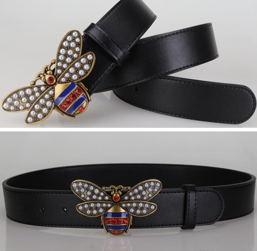 New Arrival Hot fashion big bee buckle belts for women genuine leather luxury belt designer belts high quality belt free shipping
